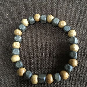 Handmade stretch bracelet with wooden beads